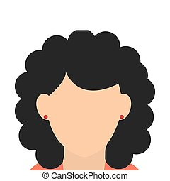 caucasian woman black curly hair - caucasian female with...