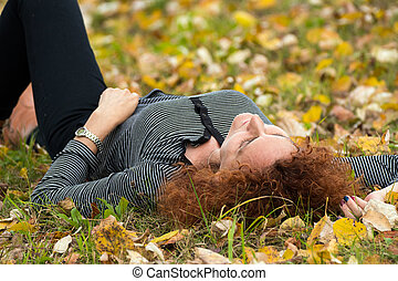 Caucasian woman portrait outdoor