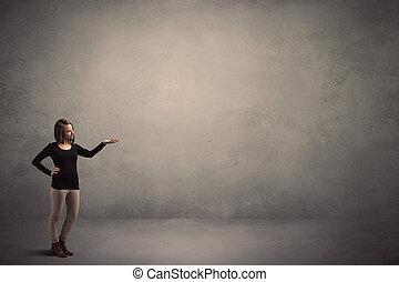 Caucasian woman standing