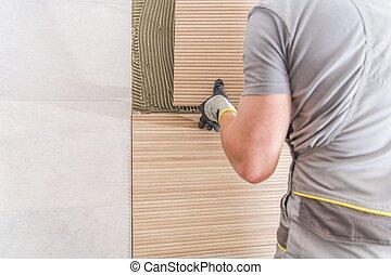 Installing Modern Bathroom Tiles