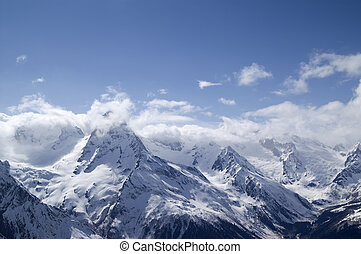 Caucasus. Dombay. Belalakaya. - Caucasus Mountaun. Dombay....