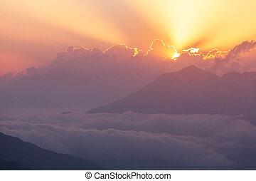 caucasus, montagne