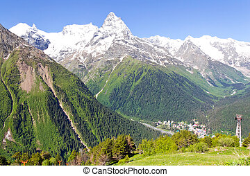 caucasus, montagne, russia