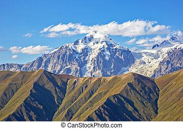 Caucasus mountain range in Georgia. Mountain landscape
