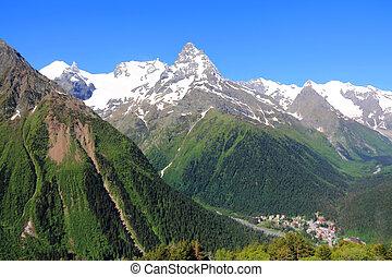 Caucasus mountains Dombai - Image of beautiful landscape...