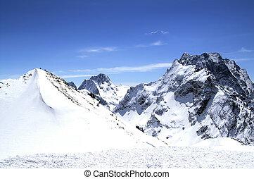 Ski resort - Caucasus Mountains. Dombaj. Ski resort
