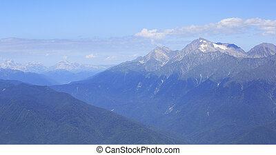 Caucasus Mountains in Krasnaya Polyana.