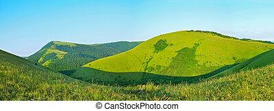 Caucasus Mountains, panoramic view