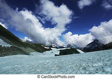 Caucasus - rainbow in mountains