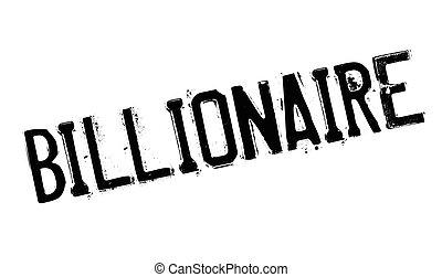 caucho, billonario, estampilla