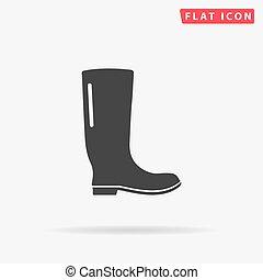 caucho, boots., gumboots, boot., lluvia
