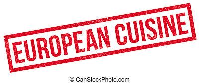 caucho, cocina, europeo, estampilla