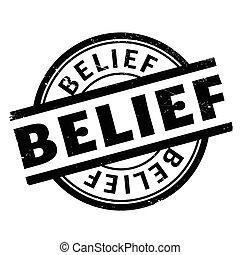 caucho, estampilla, creencia