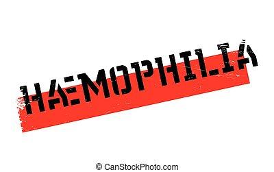 caucho, estampilla,  haemophilia