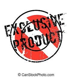 caucho, exclusivo, producto, estampilla