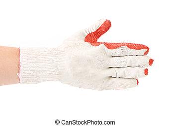 caucho, glove., protector
