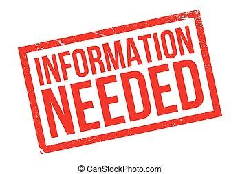 caucho, información, needed, estampilla