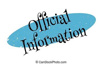 caucho, información, sello oficial
