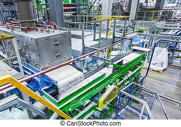 caucho, línea de montaje, caucho, producción química