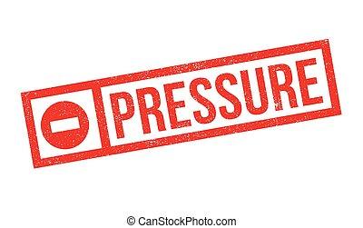 caucho, presión, estampilla