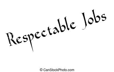 caucho, respetable, trabajos, estampilla