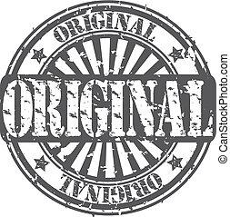 caucho, vecto, grunge, original, estampilla