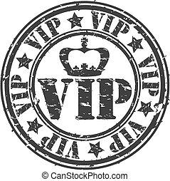 caucho, vip, vector, grunge, estampilla