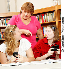 Caught Goofing Off at School - Teen girls, caught texting in...