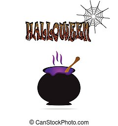 Cauldron for Halloween symbol