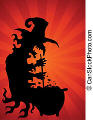 Cauldron Witch Background