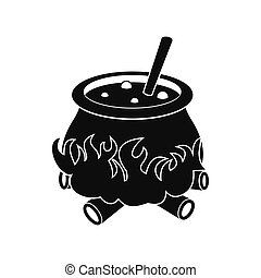 Cauldron with potion icon