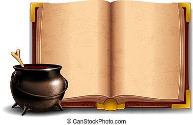 Cauldron with potion