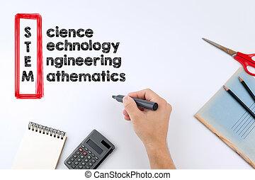 caule, -, ciência, tecnologia, engenharia, matemática, educação, conceito