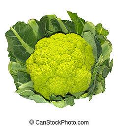Cauliflower - Detail of a green cauliflower vegetable food