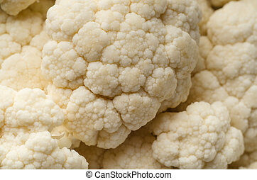 Cauliflower Floret Textures Close Up