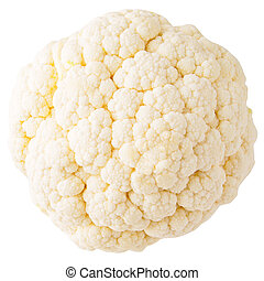 Cauliflower isolated on white with clipping path