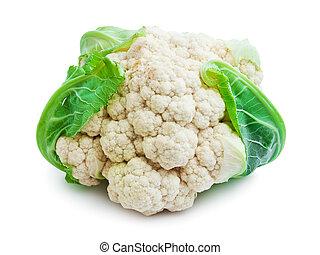Cauliflower - Single fresh cauliflower isolated on white...