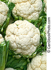 Cauliflowers - A bunch of cauliflowers on the market