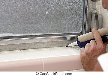 Caulking a Bathroom Window Frame