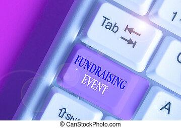 cause., augmentation, photo, texte, argent, projection, campagne, conceptuel, signe, but, event., dont, collecte fonds