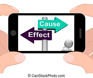 Cause Effect Signpost Displays Consequence Action Or...