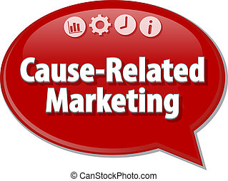 Cause-Related Marketing Business term speech bubble...