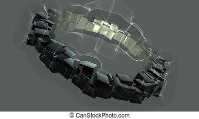 Caustik cubes - A beautiful nature caustics background...