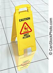 "\""caution, 潮湿, floor\"", -, 签署"