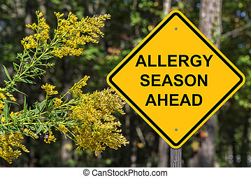Caution - Allergy Season Ahead - Caution Sign - Allergy...