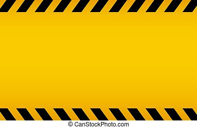 Caution backgorund. Black and yellow line striped. Blank warning background