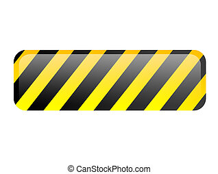 Caution - Black and yellow lines. Isolated illustration....