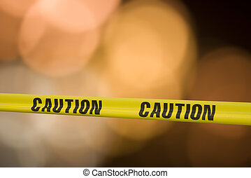 caution caution - Yellow tape with the word caution on it...