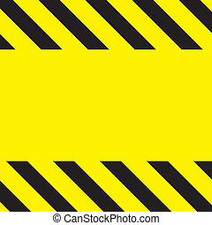 Caution Construction background - Simple caution...
