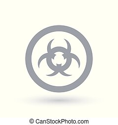 Caution contamination sign. Beware biohazard waste icon.
